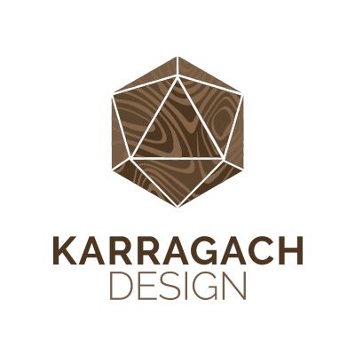 Логотип карагач дизайн (белый квадрат)
